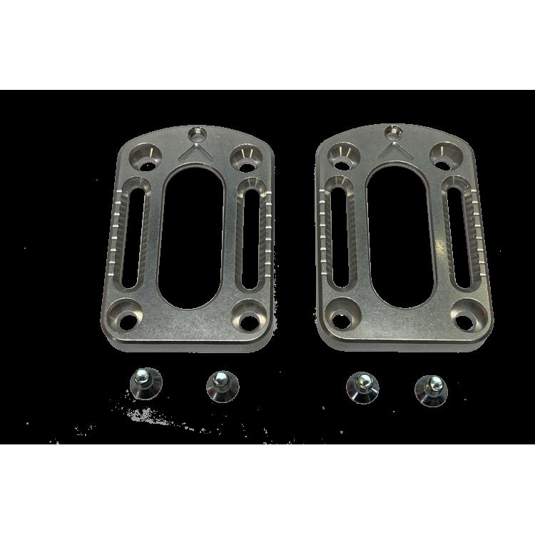 GUIDE - Adjustment plates 30 mm + adjustment screws